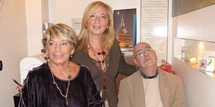 Fiore Azzurro a Torino: Pinuccia Tolomeo, Antonetta Carrabs e Mario Santagostini