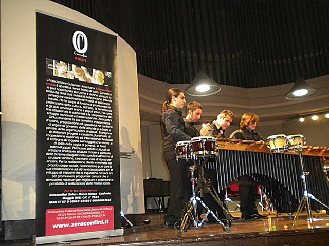 Torino in volto Out of Time Percussion Quartet Concerto Benefico 2010