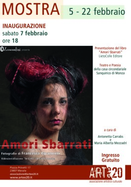 Zeroconfini AMORI SBARRATI Locandina Mostra Merate - 7.2.2015