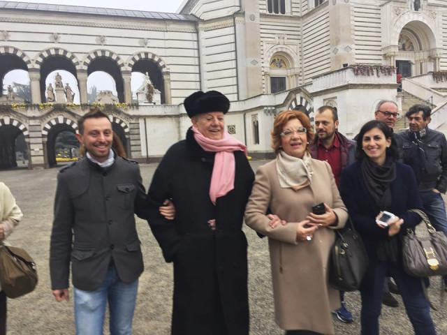 Il Processo nel Processo Milano 13.11.15 con Dario Fo al cimitero 02