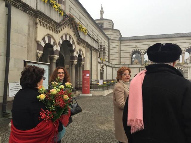 Il Processo nel Processo Milano 13.11.15 con Dario Fo al cimitero 05