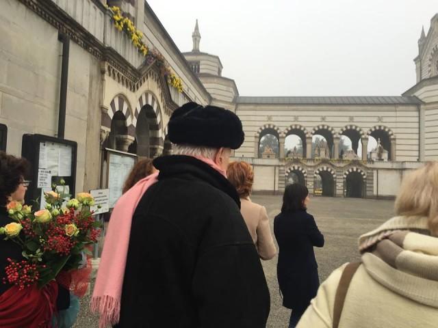 Il Processo nel Processo Milano 13.11.15 con Dario Fo al cimitero 06