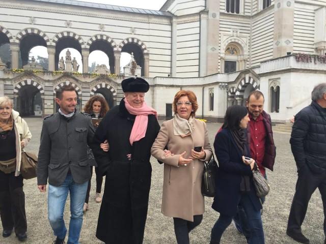 Il Processo nel Processo Milano 13.11.15 con Dario Fo al cimitero 07