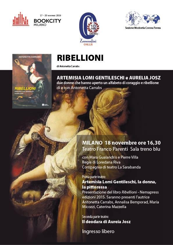 Presentazione del libro di Antonetta Carrabs  RIBELLIONI