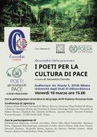 Poeti per la cultura di Pace - Locandina 10 marzo 2017
