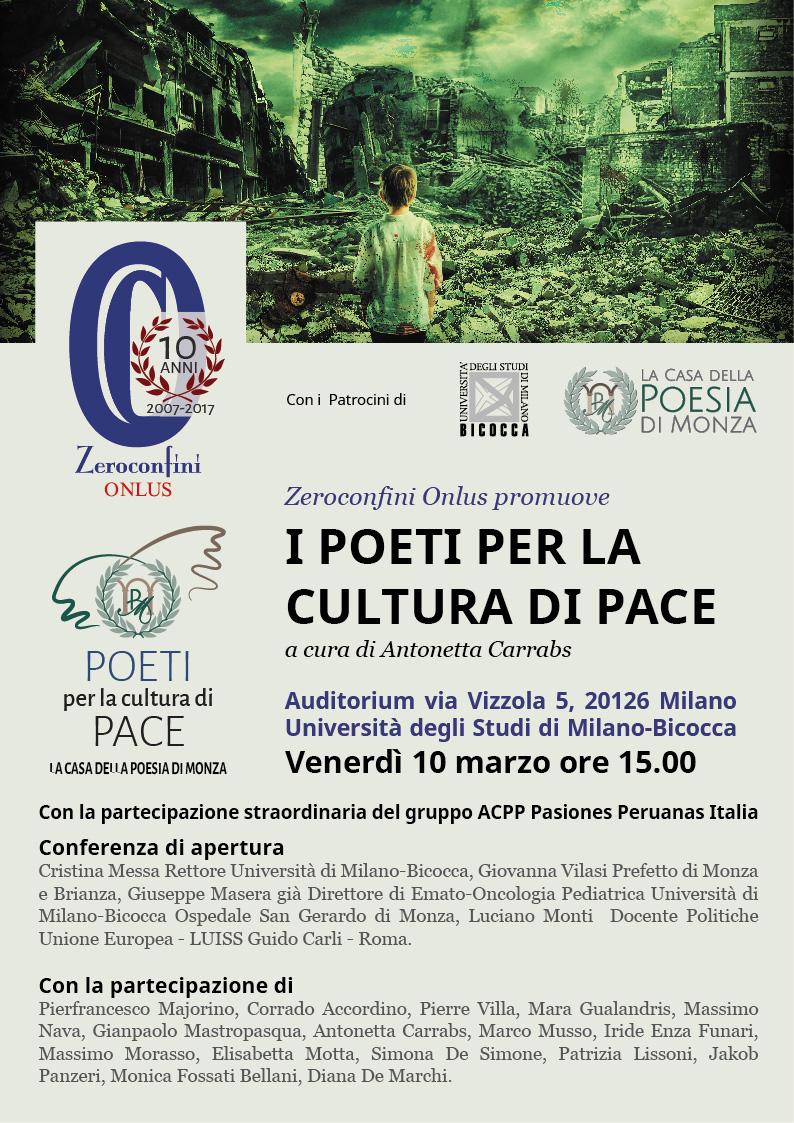 I poeti per la cultura di pace, comunicato stampa