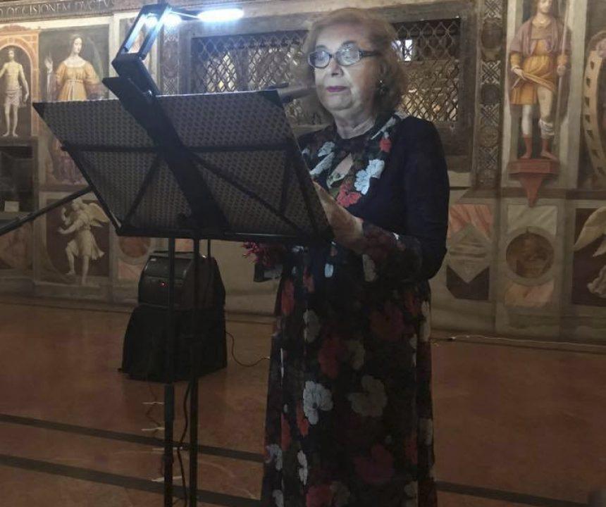 D. Bisutti per I Poeti per la Cultura di Pace