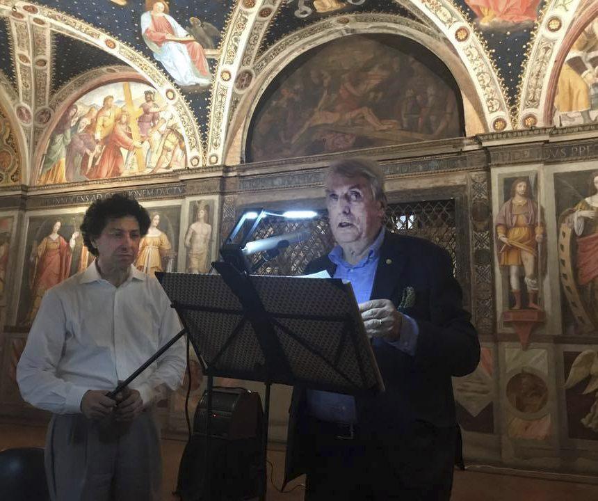 Porroni e A. Quasimodo per I Poeti per la Cultura di Pace